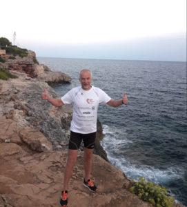 Herbert Lang beim Trainingslauf auf Mallorca
