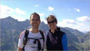 Tina und Thomas im Höhenlaufcamp - Lech am Alberg